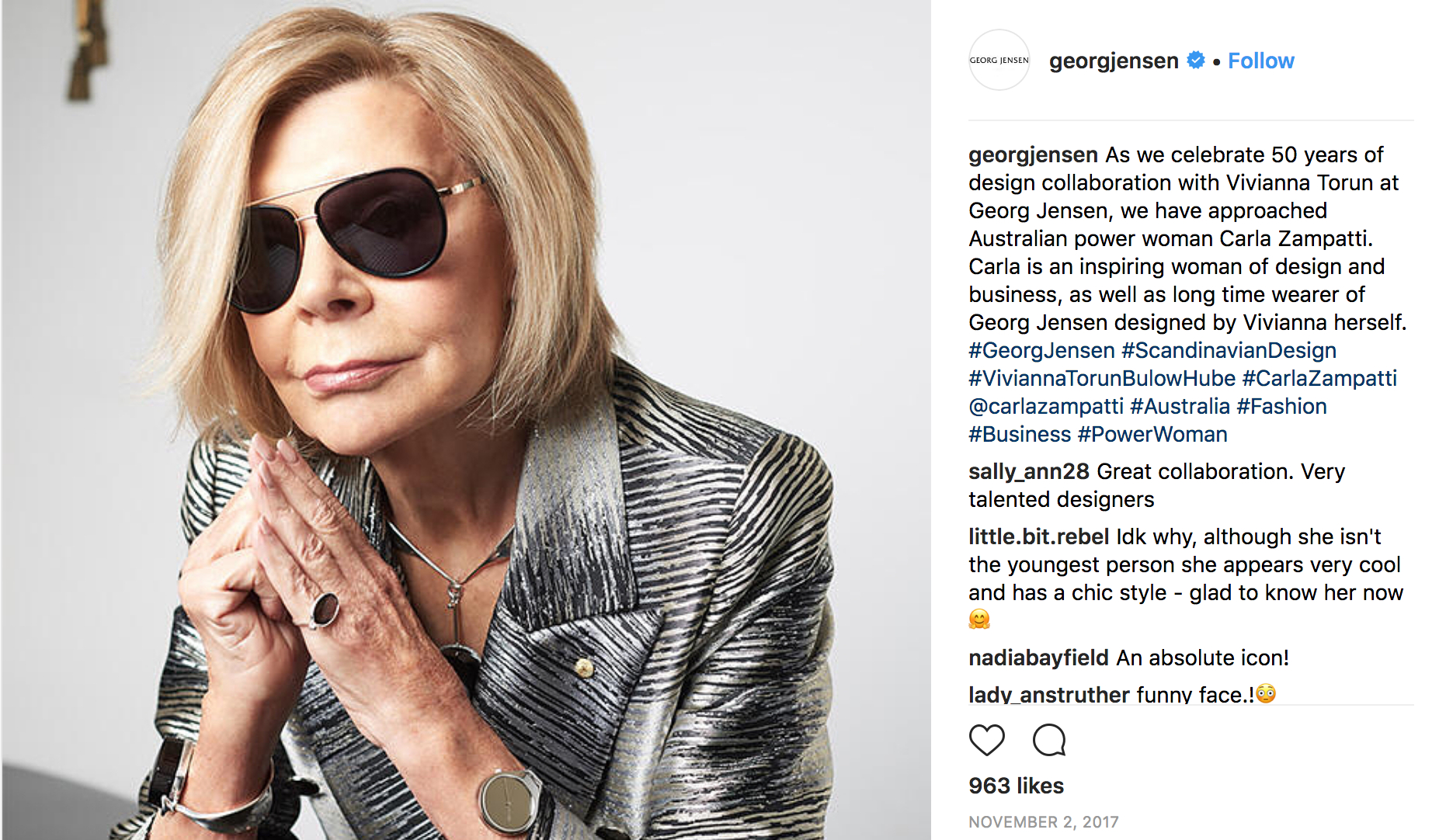"""GEORG_JENSEN_on_Instagram_""""As_we_celebrate_50_years_of_design_collaboration_with_Vivianna_Torun_at_Georg_Jensen,_we_have_approached_Australian_power_woman_Carla…""""_-_2018-04-06_15.12.08.jpg"""