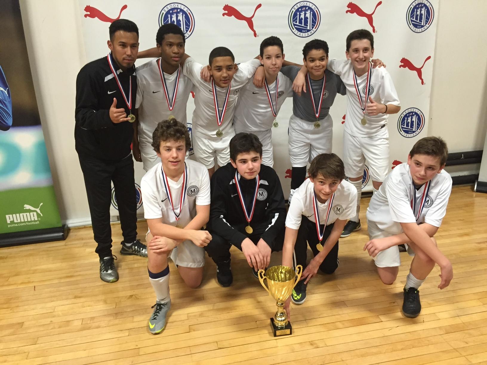 Met Oval U-13 Pre-Academy Play Up and Win U-14 NYC Indoor