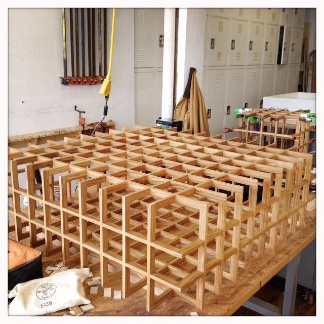 Jumbo Quadrat in rift white oak for Pelle Designs