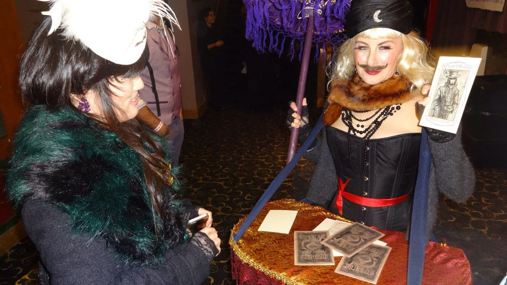 The MM cards and Lady Fortuna told miss-fortunes to guests waiting for their Test