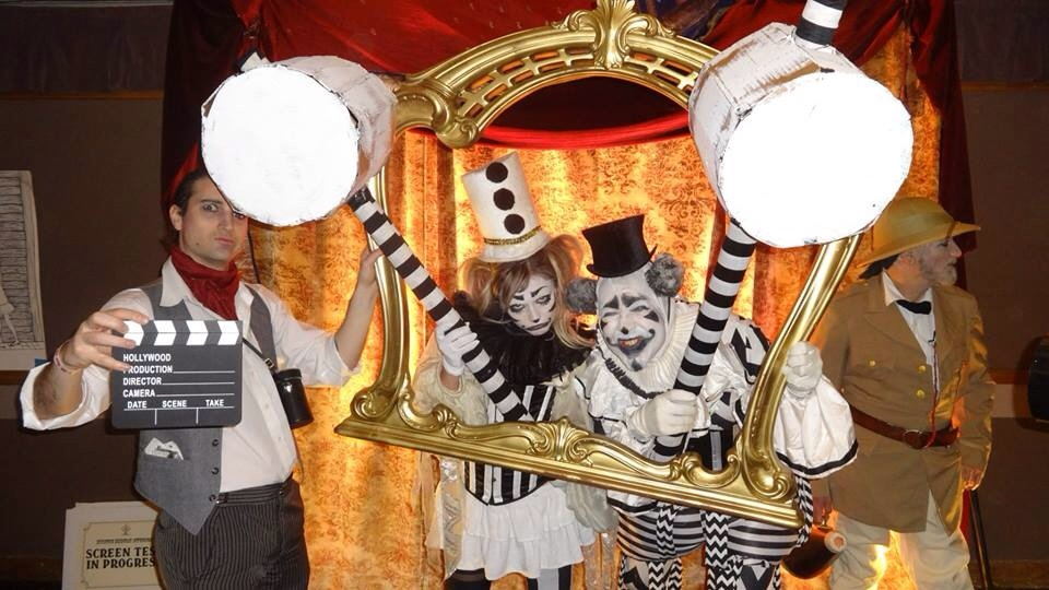The Dark Harlequins appeared to 'irritain' Edwardian Ball guests