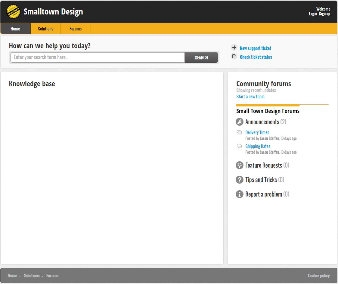 Online Client Project Request Portal