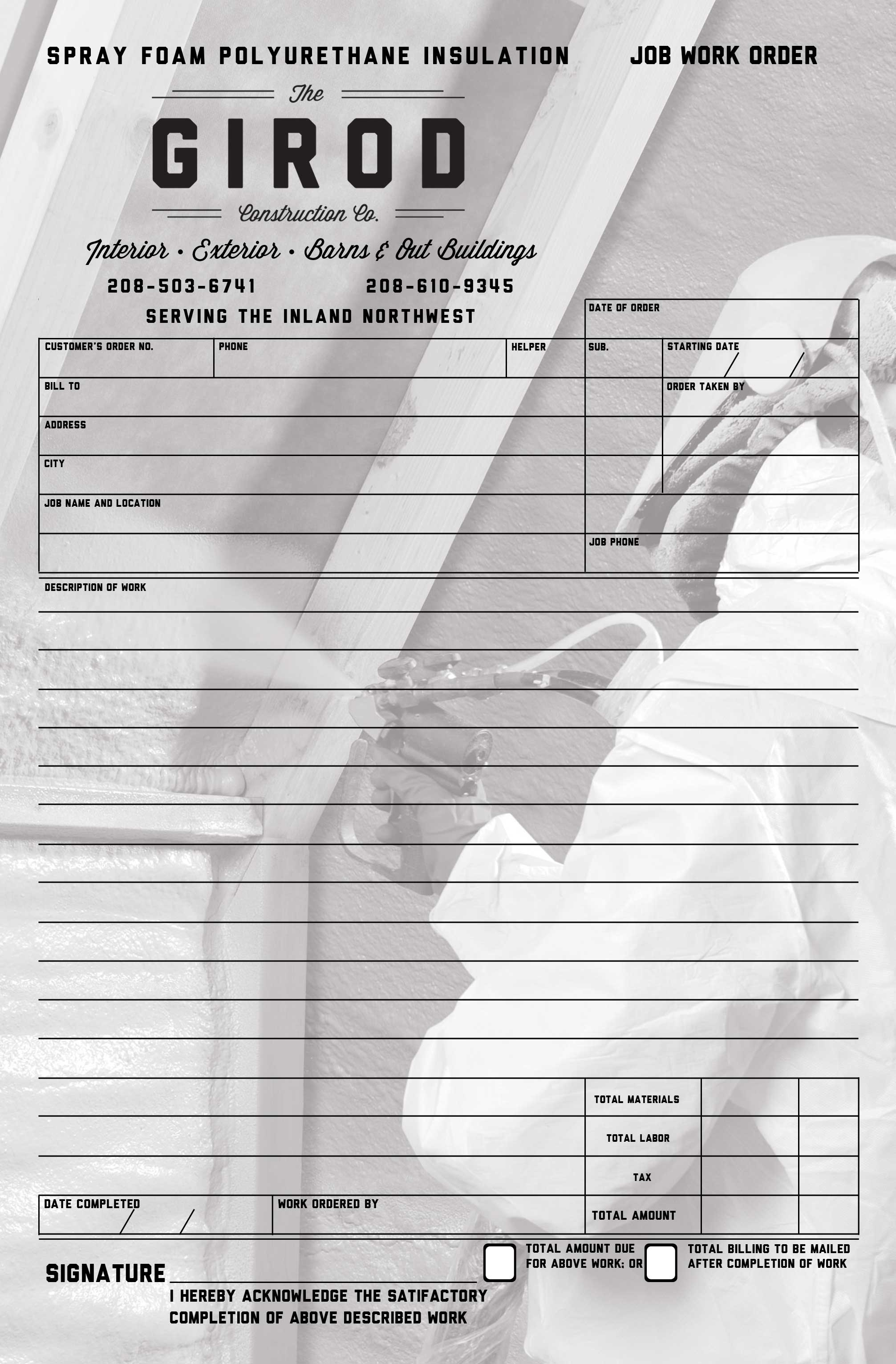 "5.5 "" x 8.5"" NCR Forms, 2 Ply (White & Yellow)"