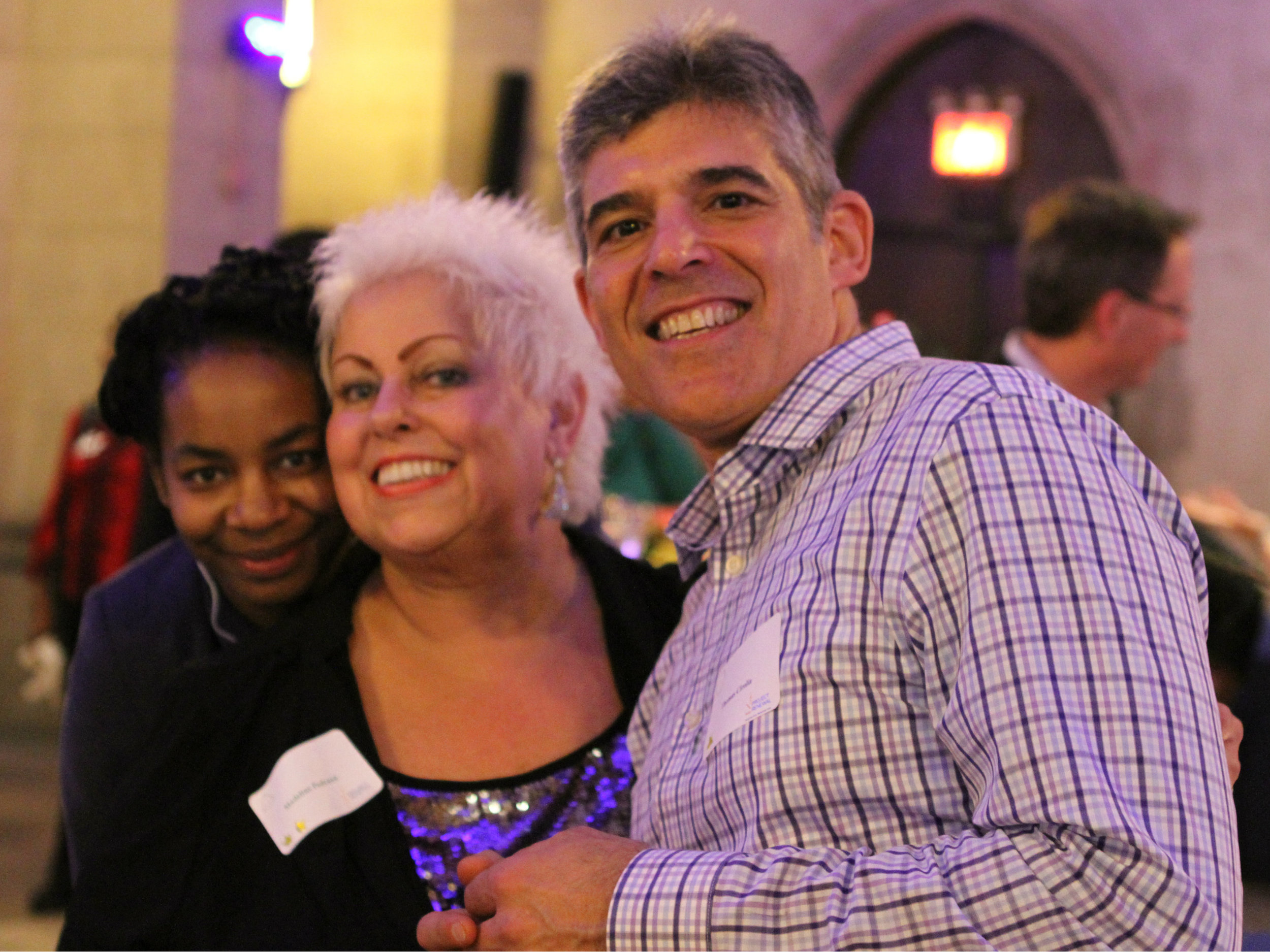 Madeline Pedraza (center) with Denise Townes (left) and Thomas Ciriolia (right).