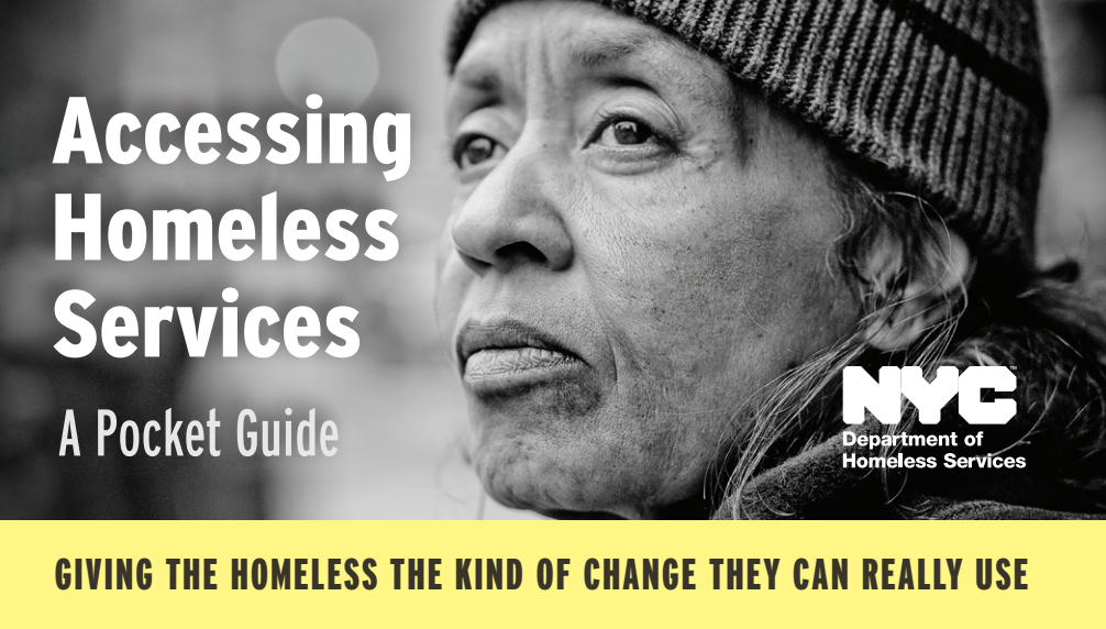 """Download the Department of Homeless Services' """"Accessing Homeless Services"""" in PDF"""