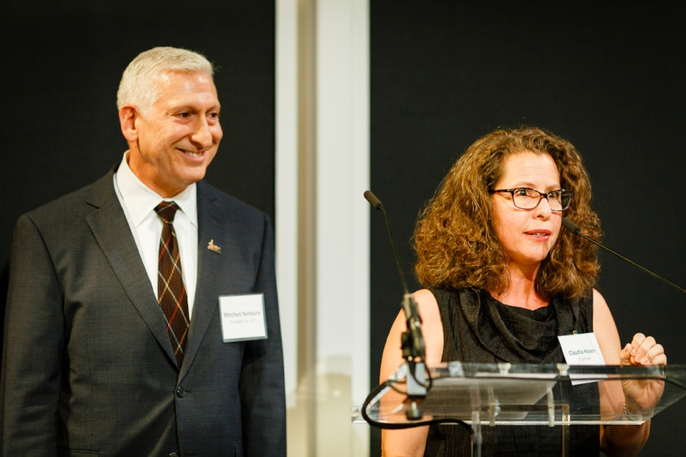 President and CEO Mitchell Netburn with Board chair Claudia Rosen
