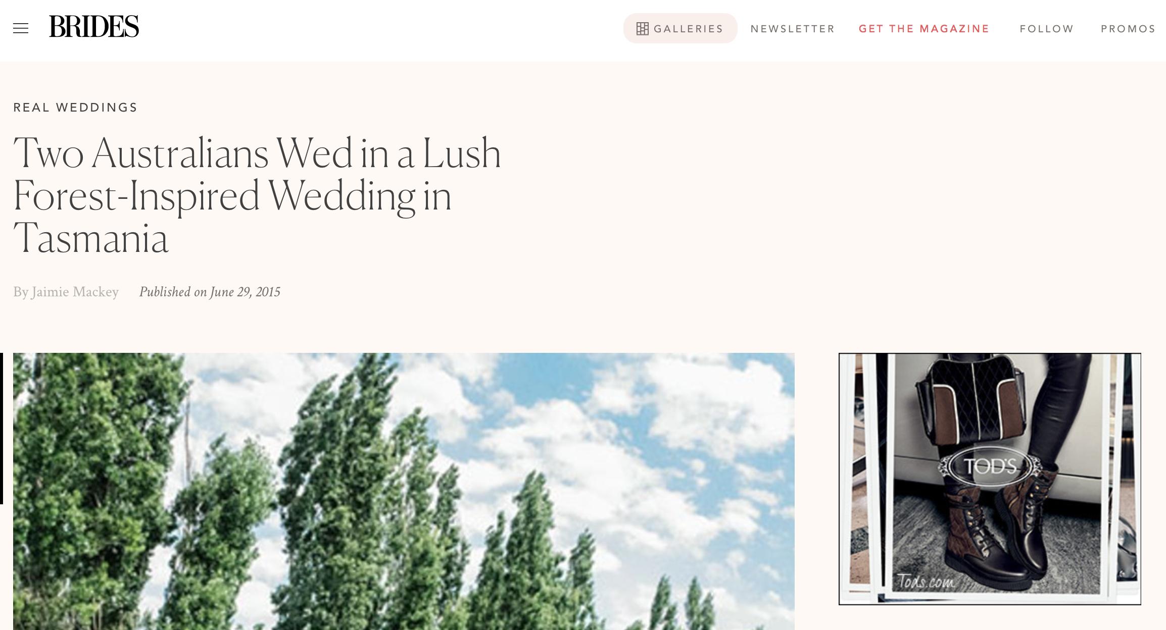 Screenshot from brides.com
