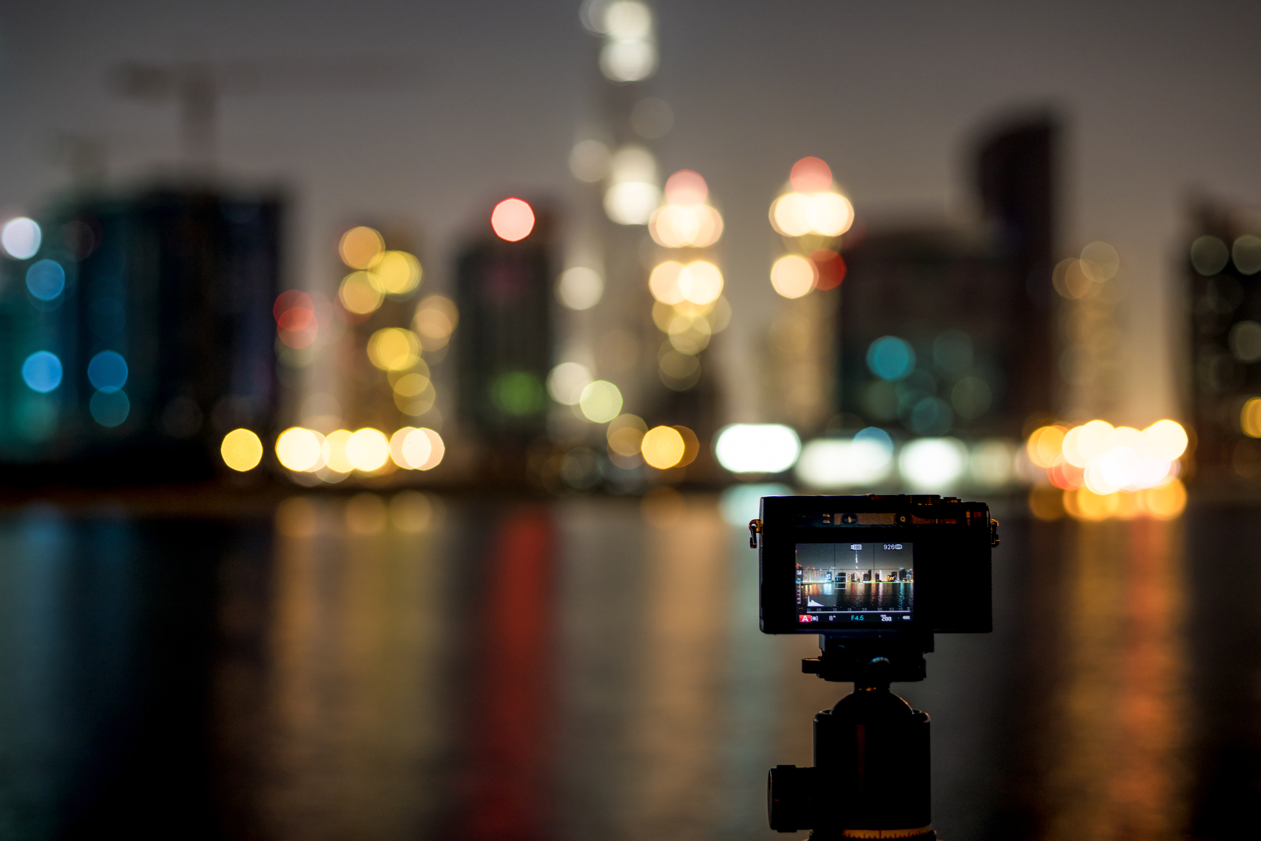 X-E2 shooting Business Bay in Dubai. (shot with Sony A7r, Canon FD 50/1.4 (Click to enlarge)