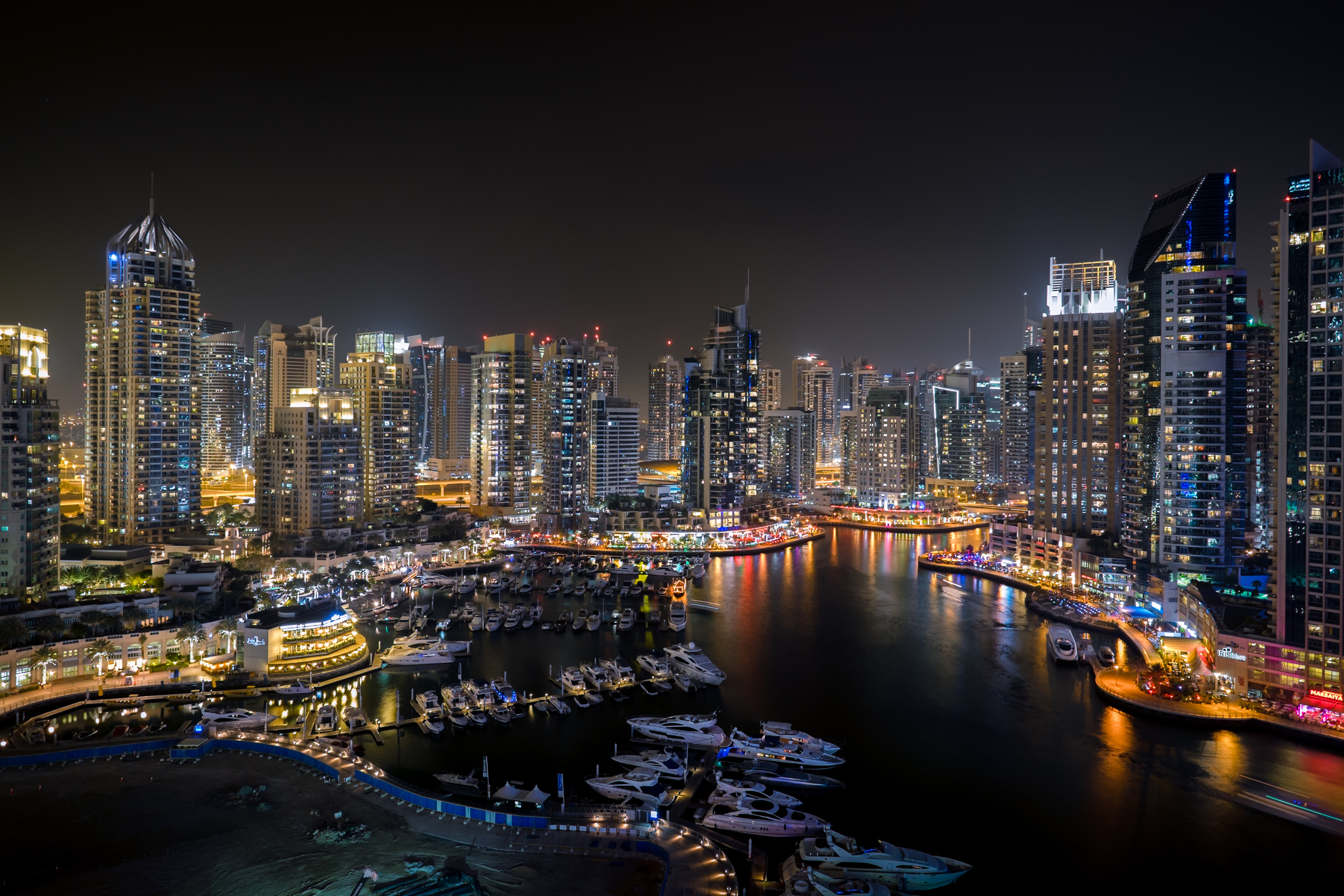 """My usual """"first shot"""" with any new camera/lens. The Dubai Marina from my balcony (Click to enlarge)"""