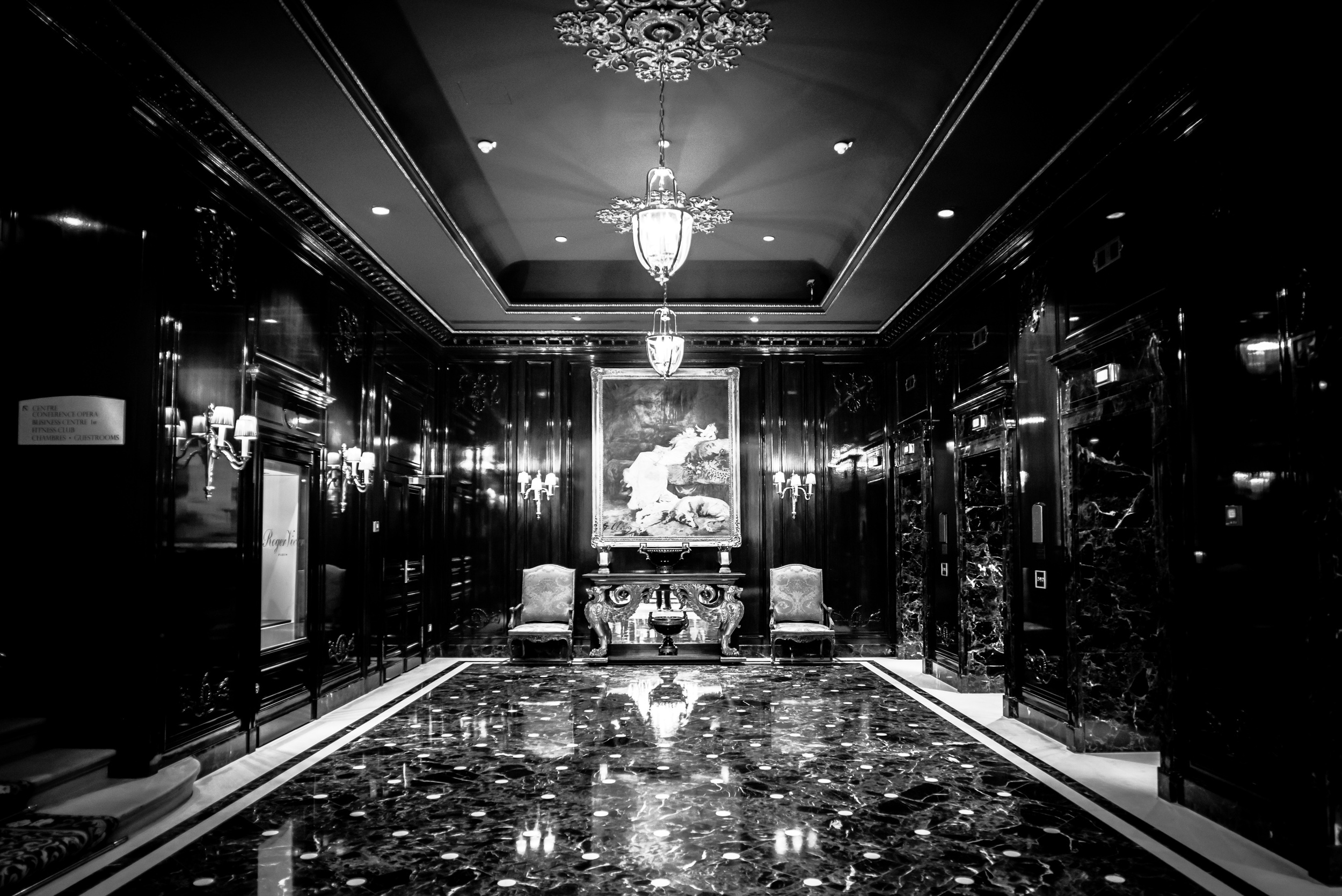 Elevator area of Paris Le Grand (this area was really stunning)