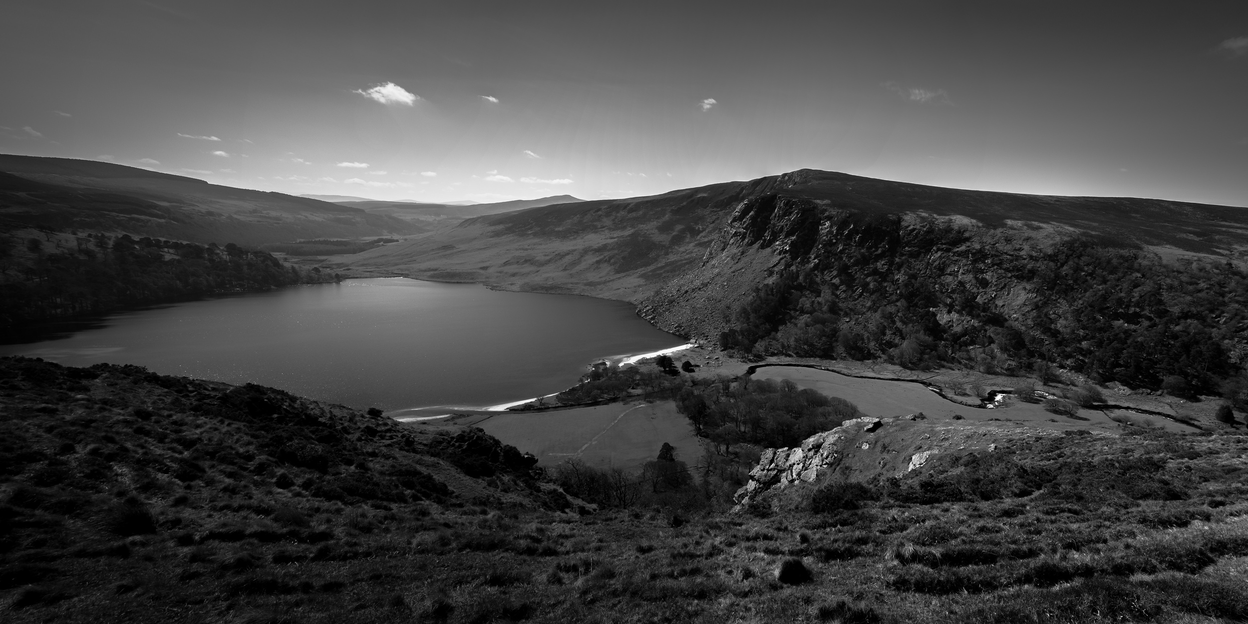 Driving thru the Wicklow Mountains National Park