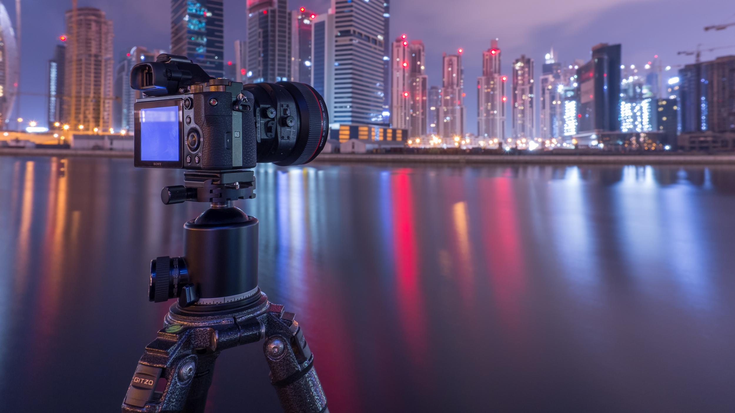 A long exposure, of a long camera taking a long exposure (shot with Fuji X100s)
