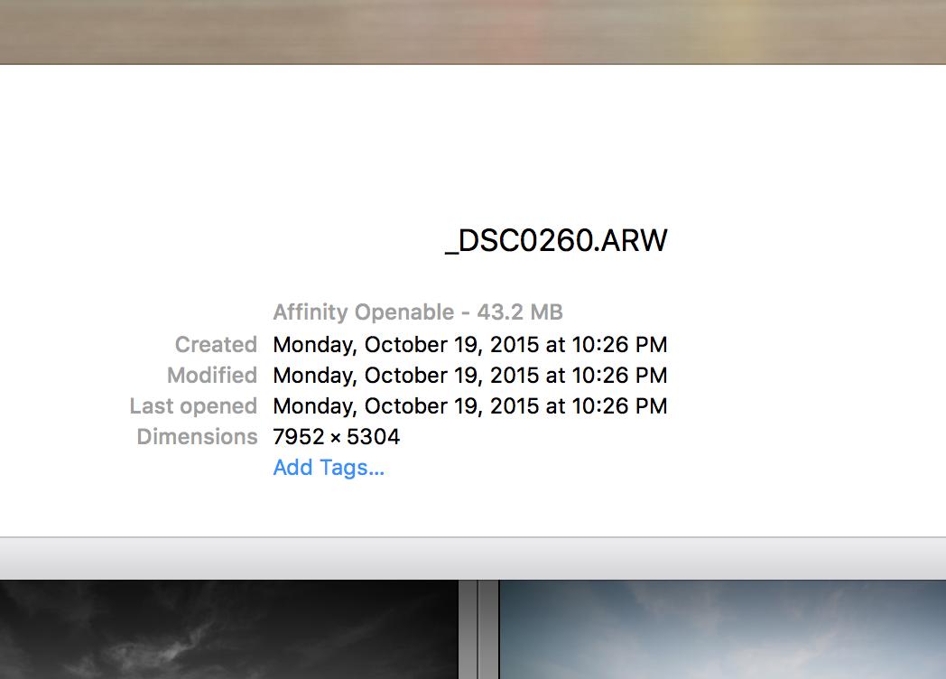 Compressed Sony A7r2 RAW file