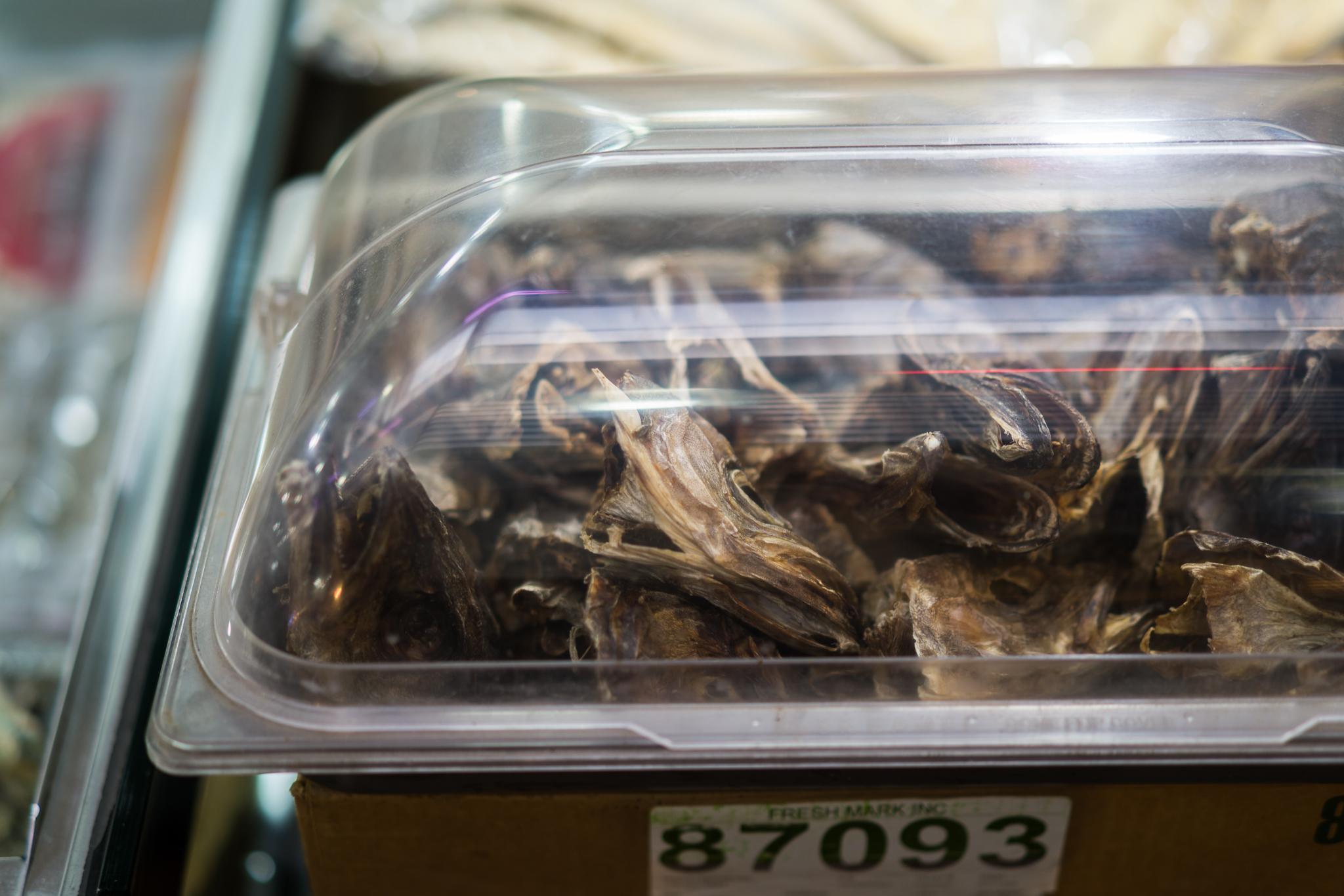Dried fish heads