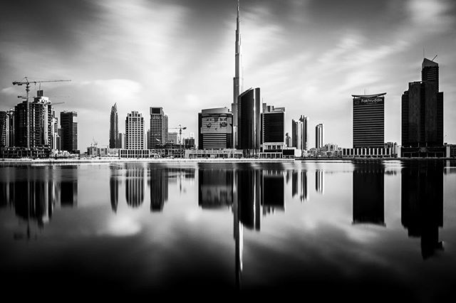 In celebration of Fuji's 8 year anniversary of the X-Series. Here is an infrared shot of Dubai's Business Bay shot on the Fuji X100S.  #longexposure #dubai #ir #infrared #fujifilm #fujixseries #bnw #blackandwhite #sunrise #dubaiphotographer