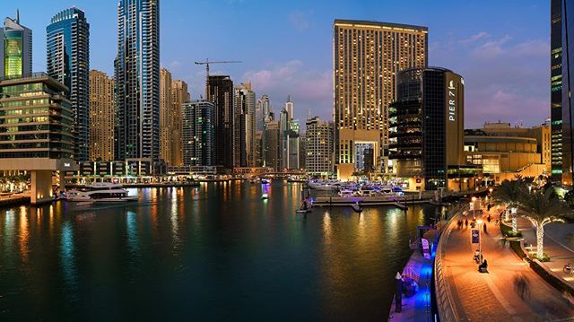 The Dubai Marina #dubai #cityscape #sonya7ii #bluehour #travel #citylights #longexposure