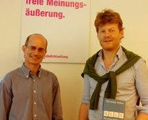 E. Frey und Chr. Felber. Foto derstandard.at