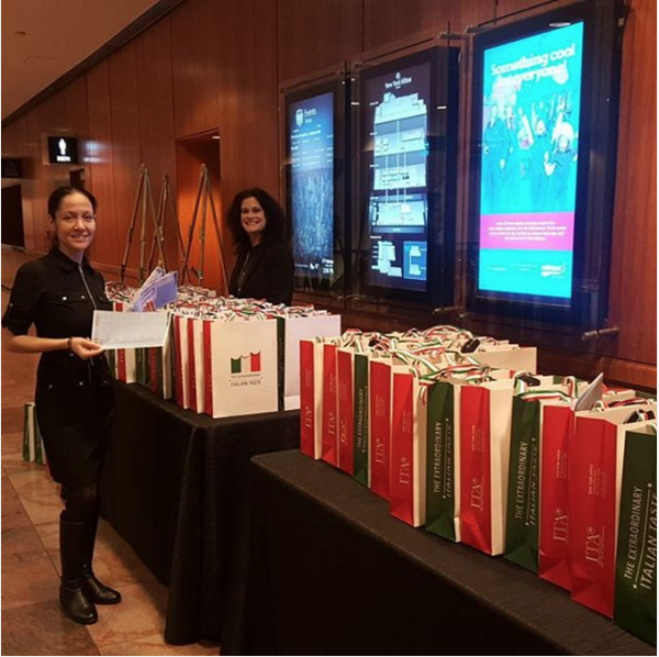 beautiful event gift bags were provided for event guests to take home