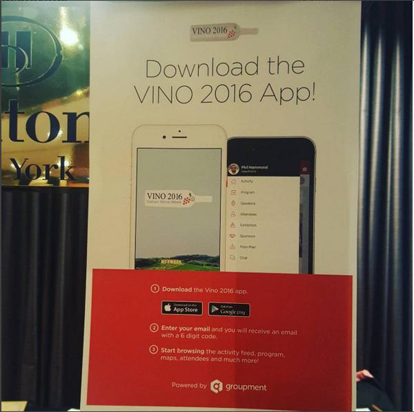 dedicated event mobile app  for vino 2016