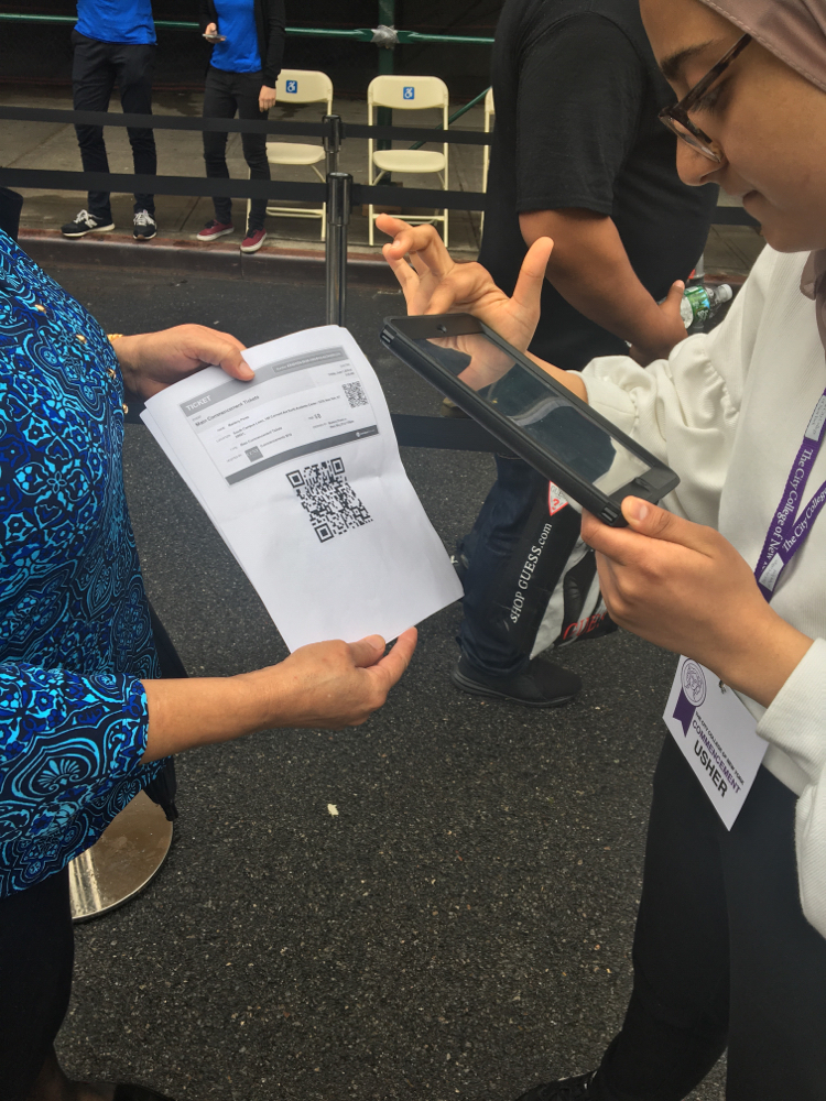 Event attendees were able to avoid long lines thanks to fast check-ins via qr code scanning technology.