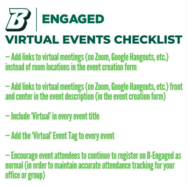 Virtual Events Checklist Best Practices For Creating Engaging Events Campusgroups