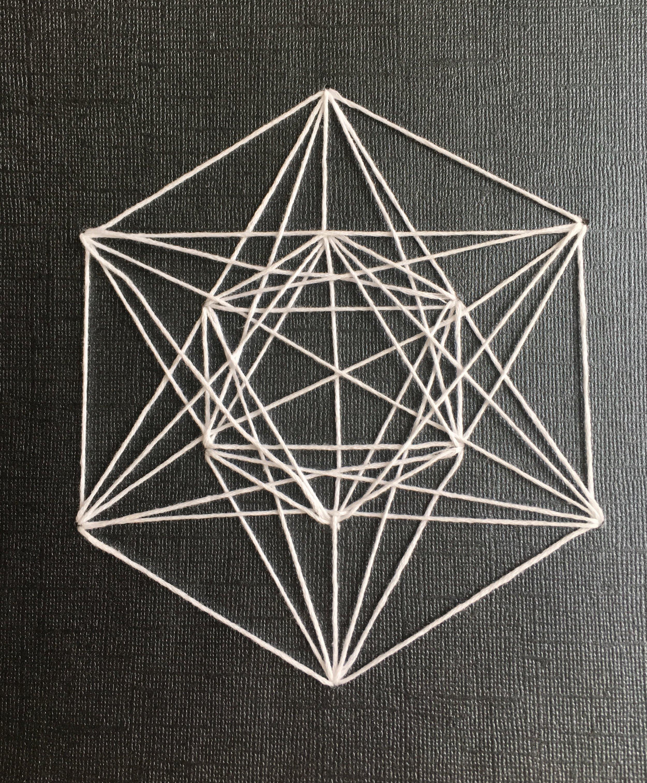 Geometric String Art - Arts & Crafts Ideas