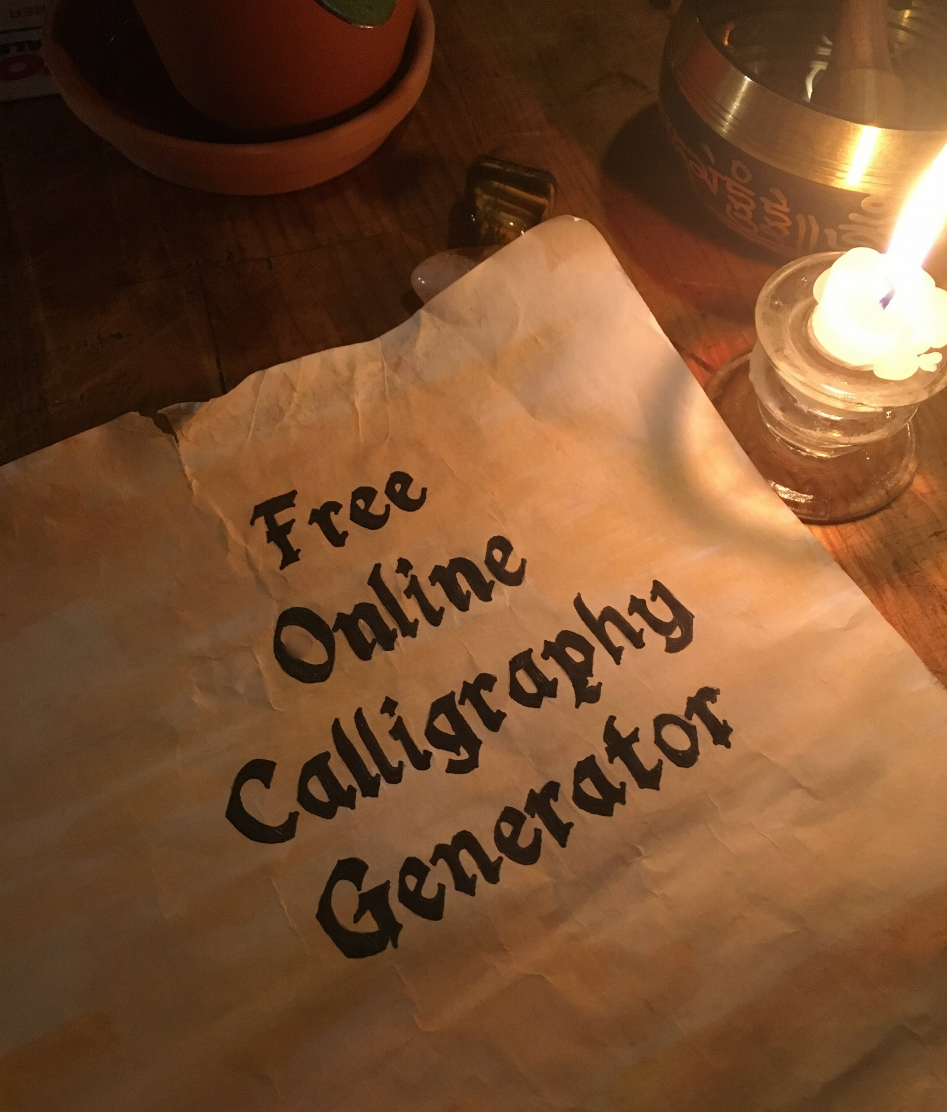 Free Online Calligraphy Generator (Windows, Mac, iPad