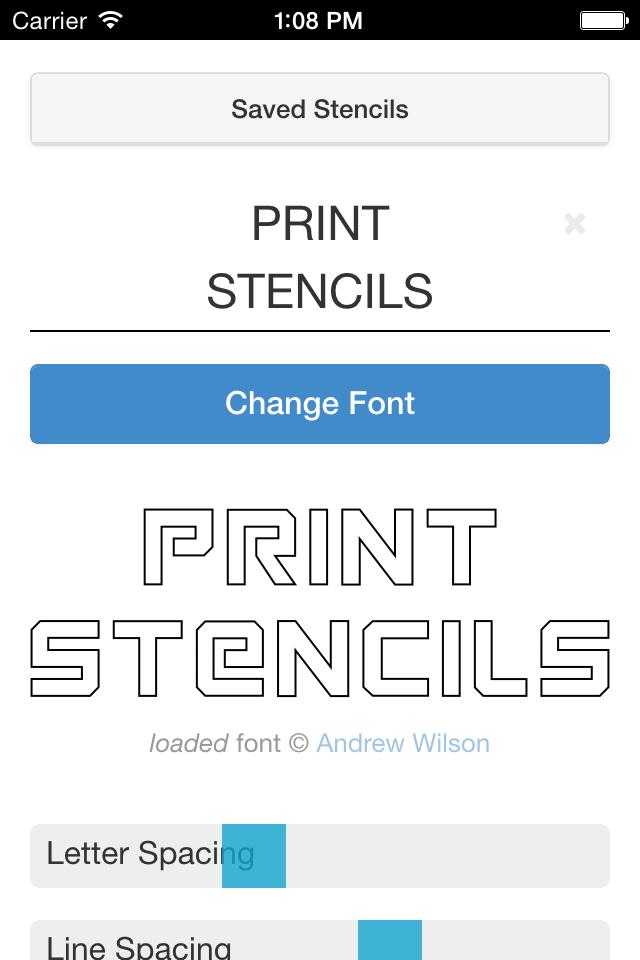 Free Stencil Printer iPhone + iPad App