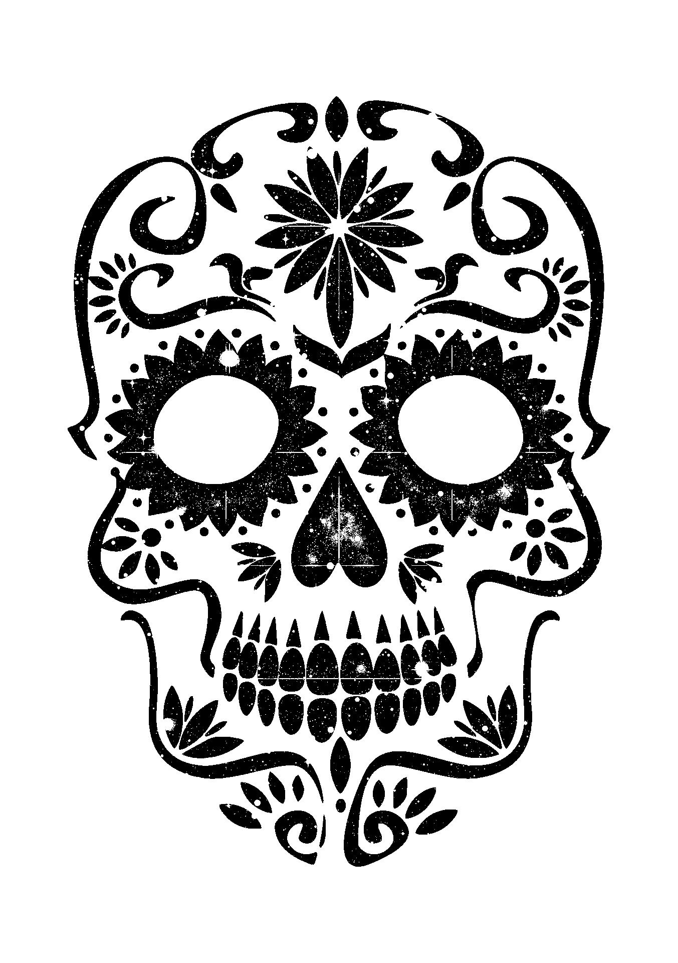 pumpkin template sugar skull  Sugar Skull Pumpkin Tutorial - Arts & Crafts Ideas