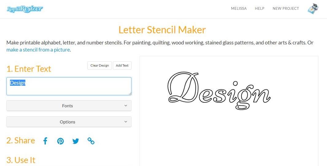 Letter Stencil Maker Tutorial - Arts & Crafts Ideas