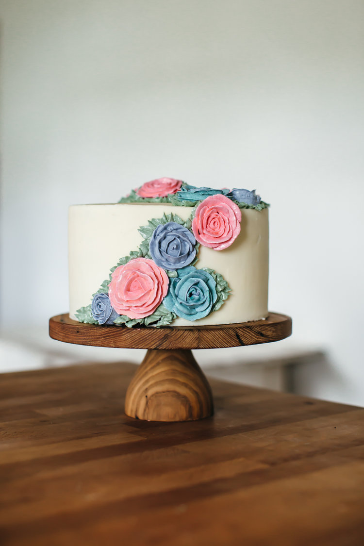 coconut rose cake