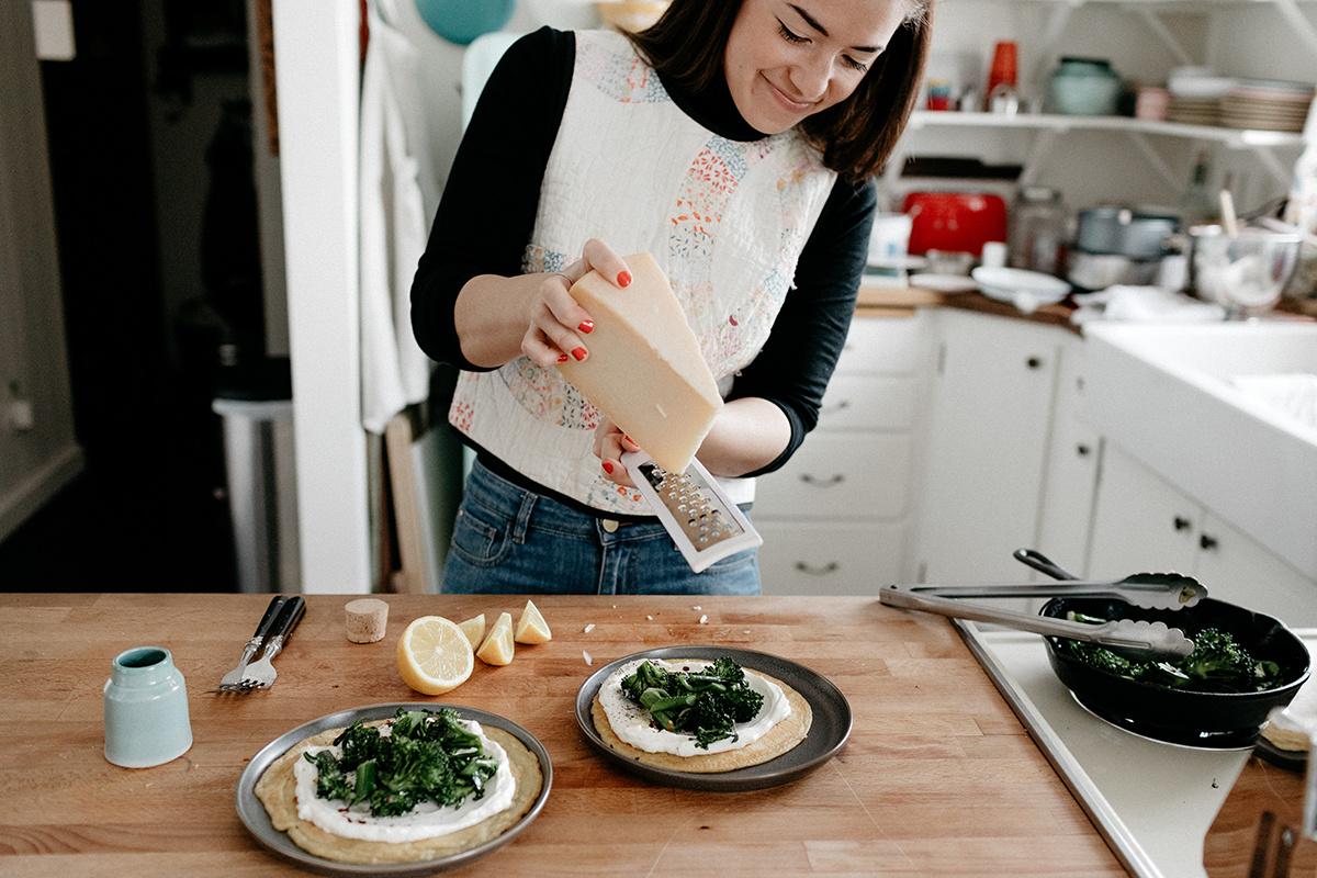 socca with broccolini