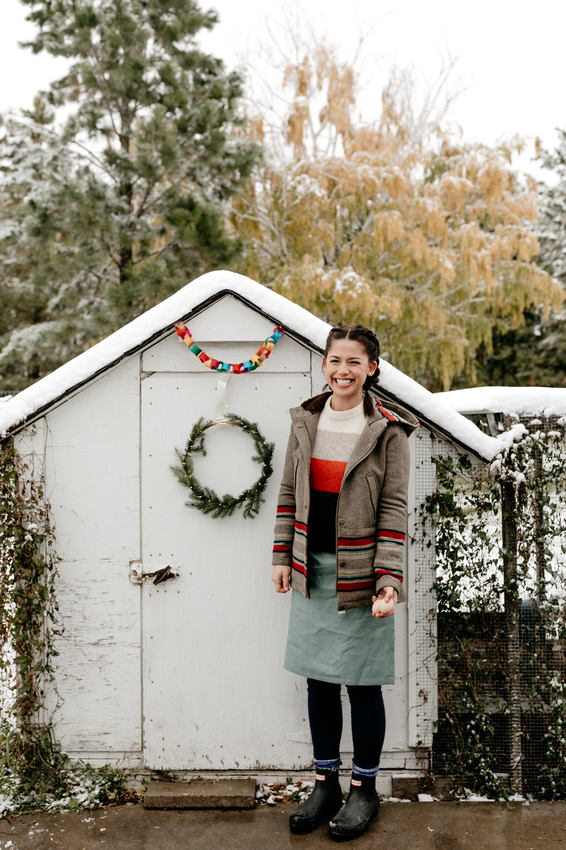 Host Molly Yeh, with her Chicken Coop.jpeg