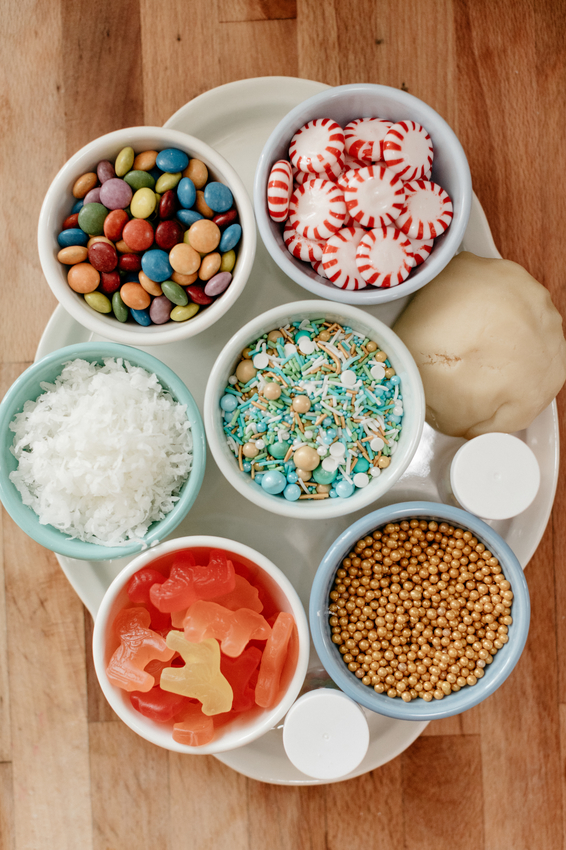 Molly Yeh's Airline Cookie Sheet Cake toppings.jpeg