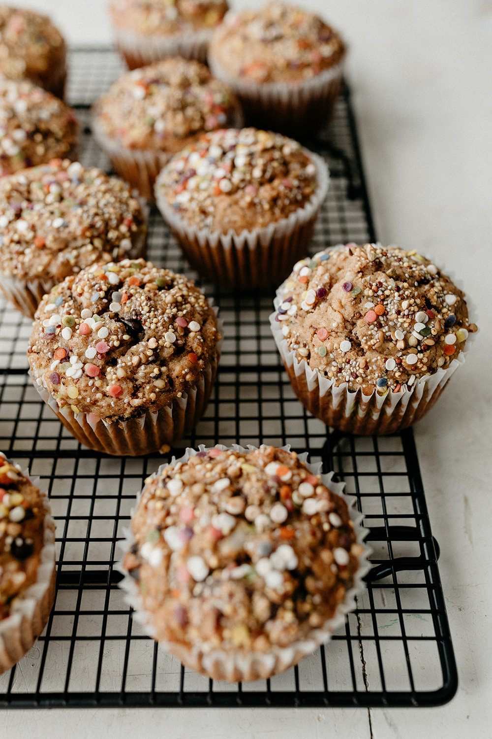 Chocolate Peanut Butter Oatmeal Muffins - Molly Yeh