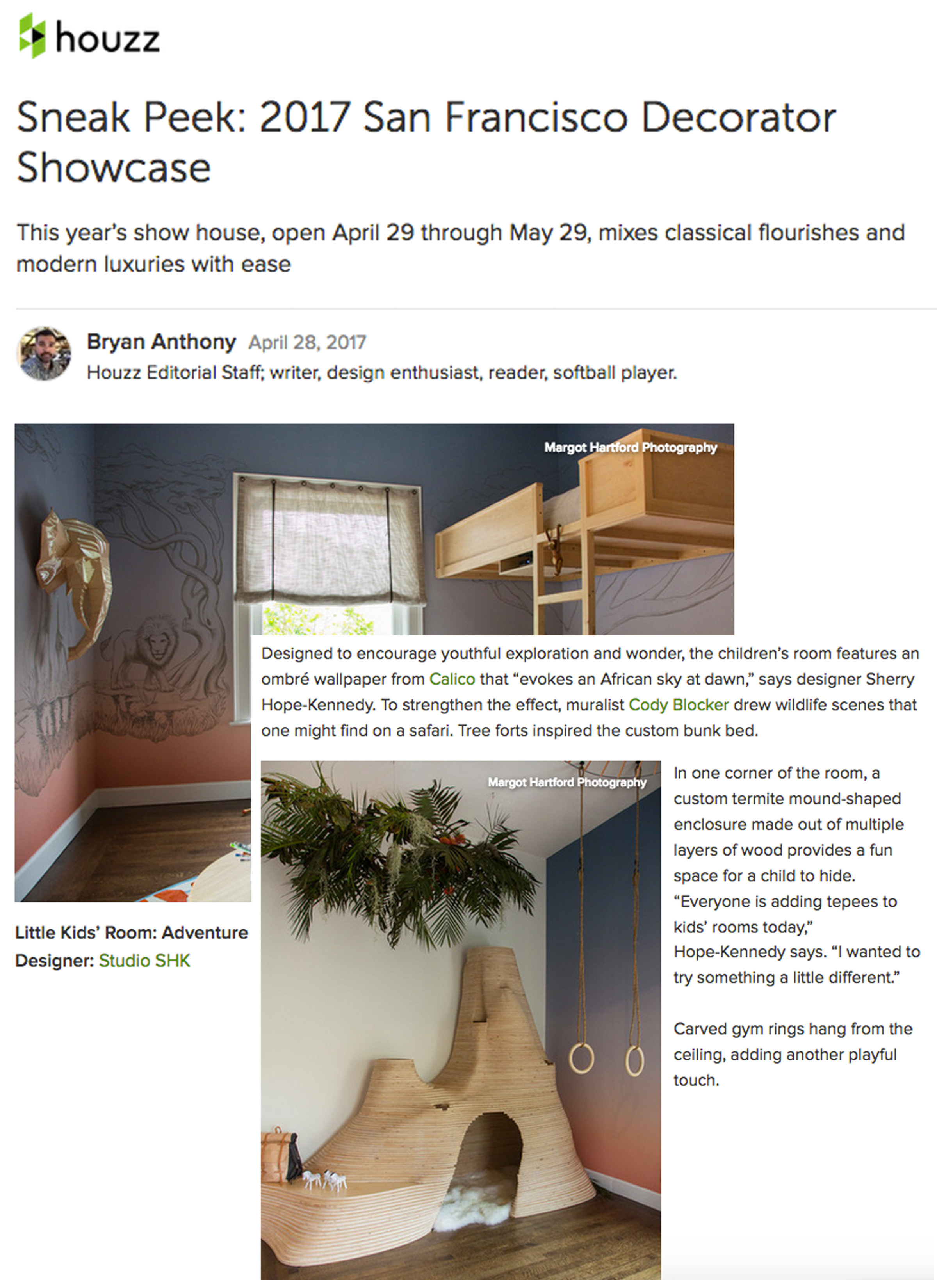 Houzz - Our room is featured in Houzz's sneak peek of the SF Decorator Showcase. Link: http://bit.ly/2q46TVA