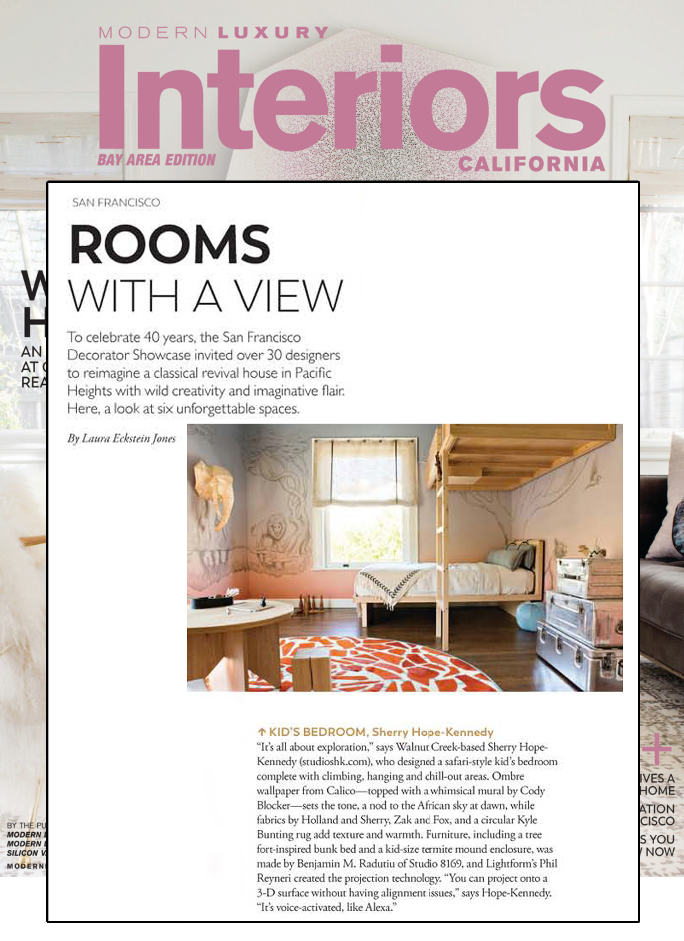Interiors California - Modern Luxury Interiors California, in their latest Bay Area Edition, includes our kid's bedroom as one of the