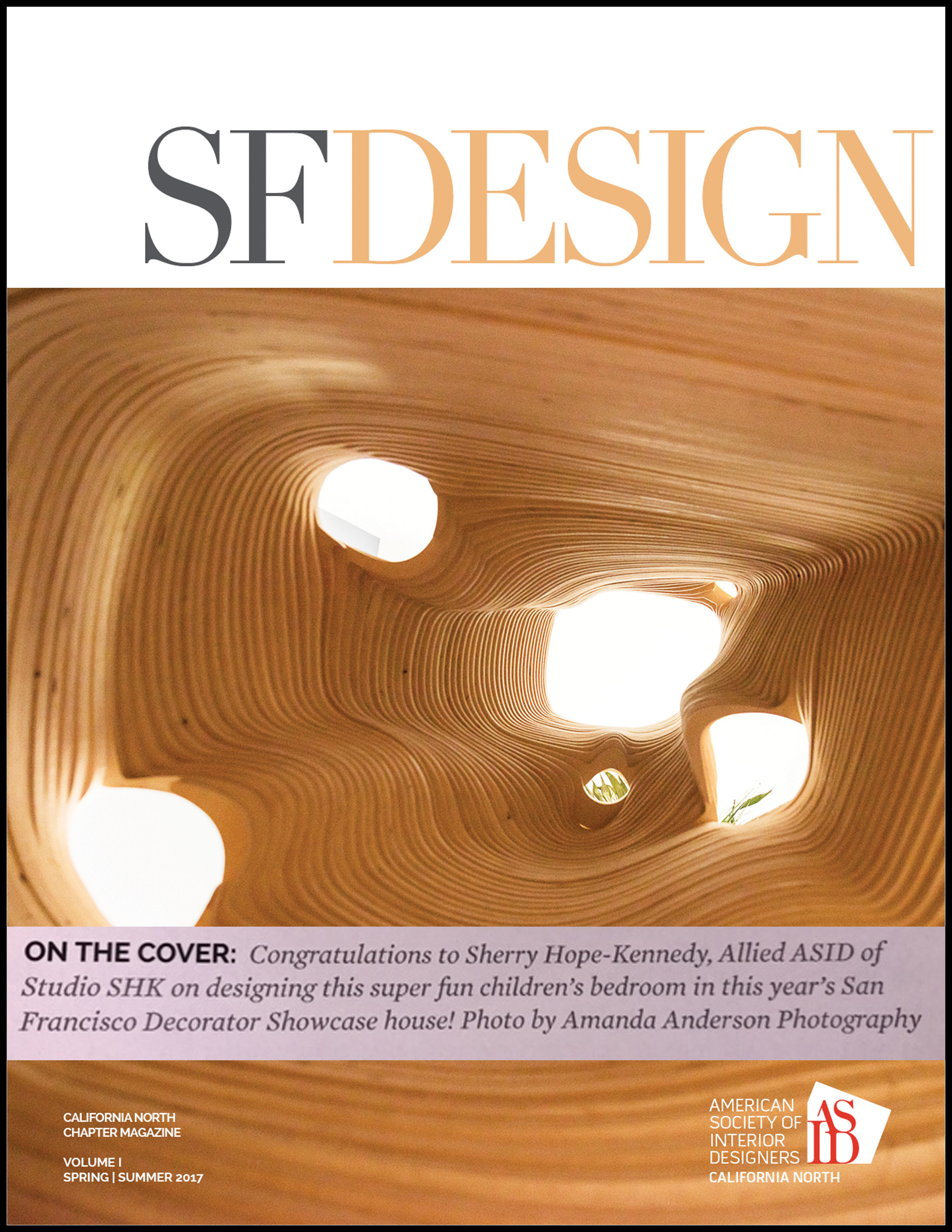 SF Design - ASID's quarterly magazine, SFDesign, included our