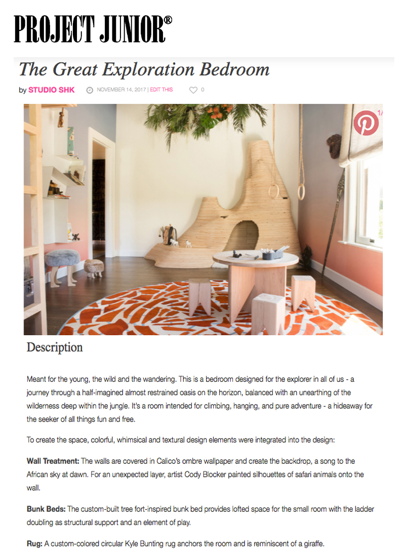 Project Junior - Scroll through images of our Great Exploration Bedroom and