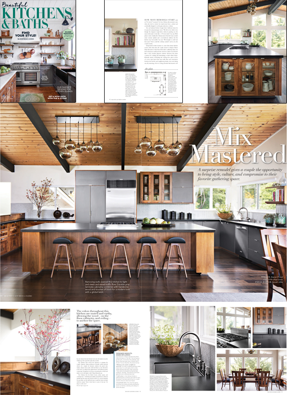 Beautiful Kitchens & Baths - Meredith's Beautiful Kitchens & Baths spotlights our Modern Zen kitchen in an 8-page article titled Mix Mastered.Link: http://BHG.com/KitchenBath