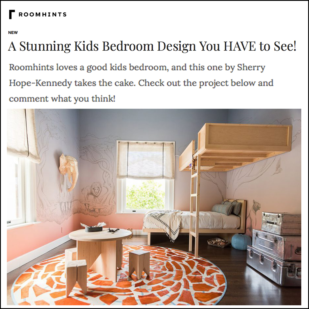 Roomhints - Our Great Exploration Kid's Bedroom is featured on Roomhints. The article is full of helpful interior design hints to help you get the look!