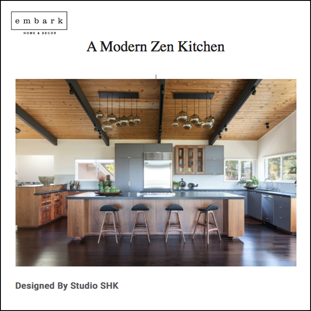 Embark - Our Modern Zen kitchen is featured on Embark.