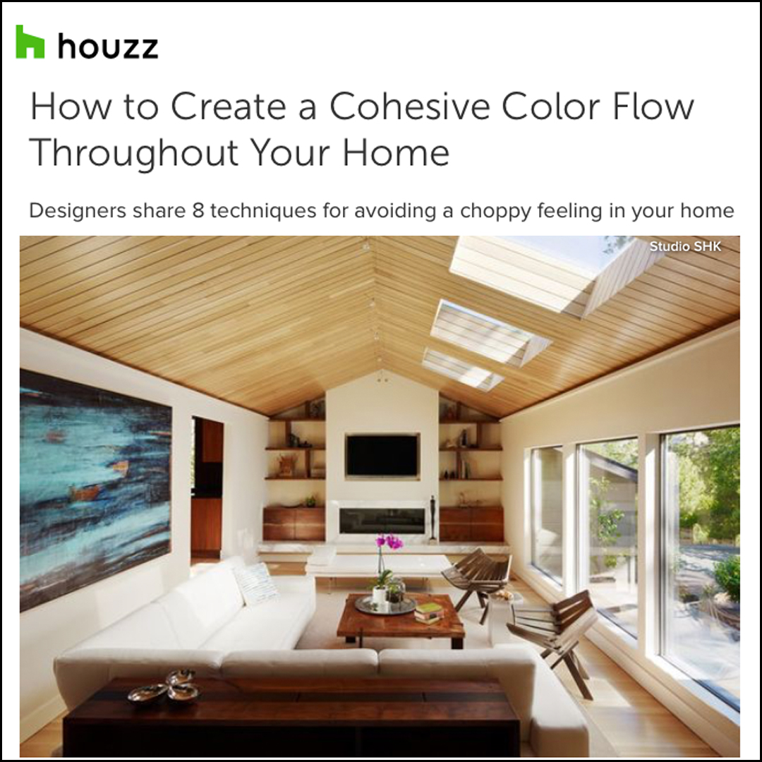 Houzz - Read how Sherry creates a cohesive color flow with neutral tones.