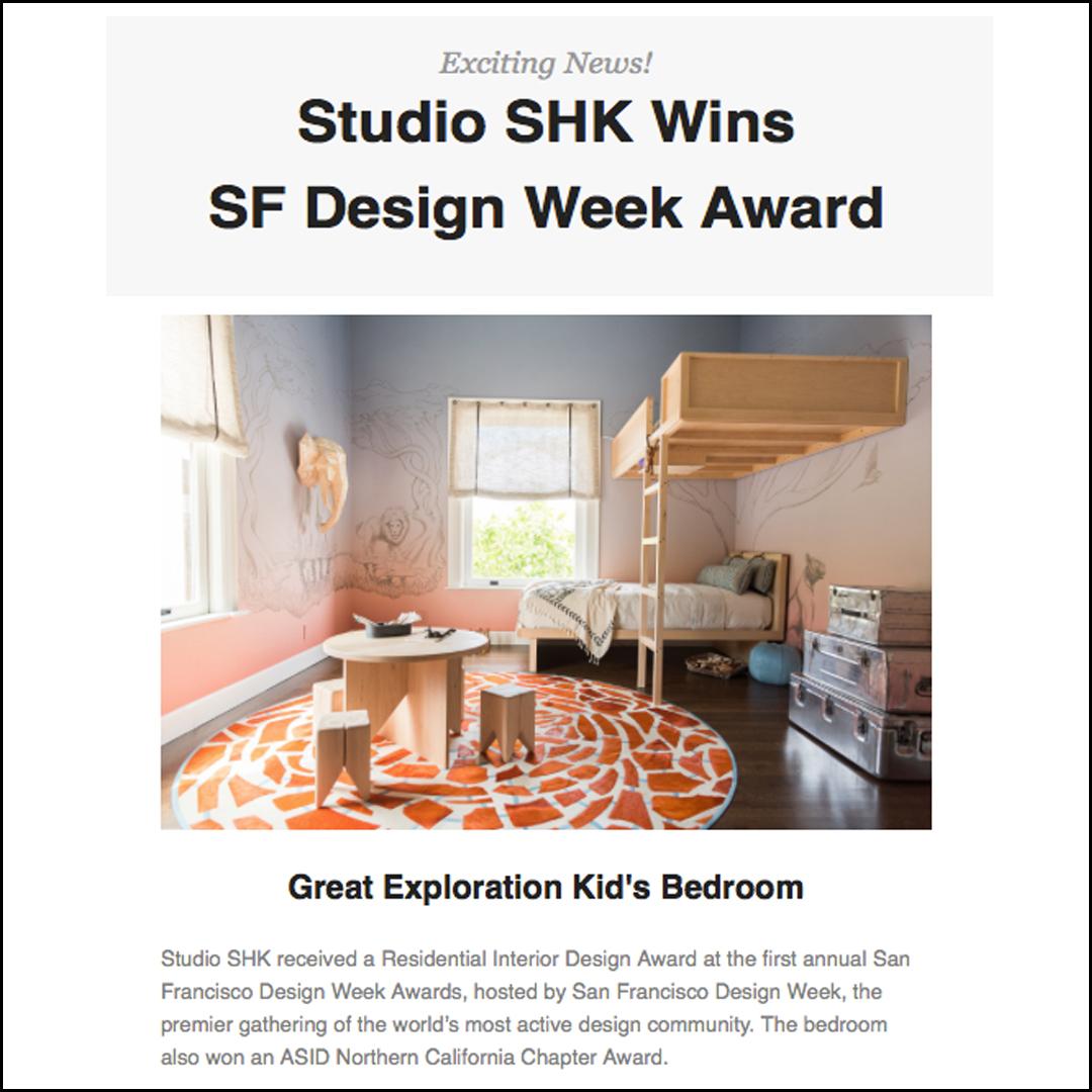 SF Design Week Award