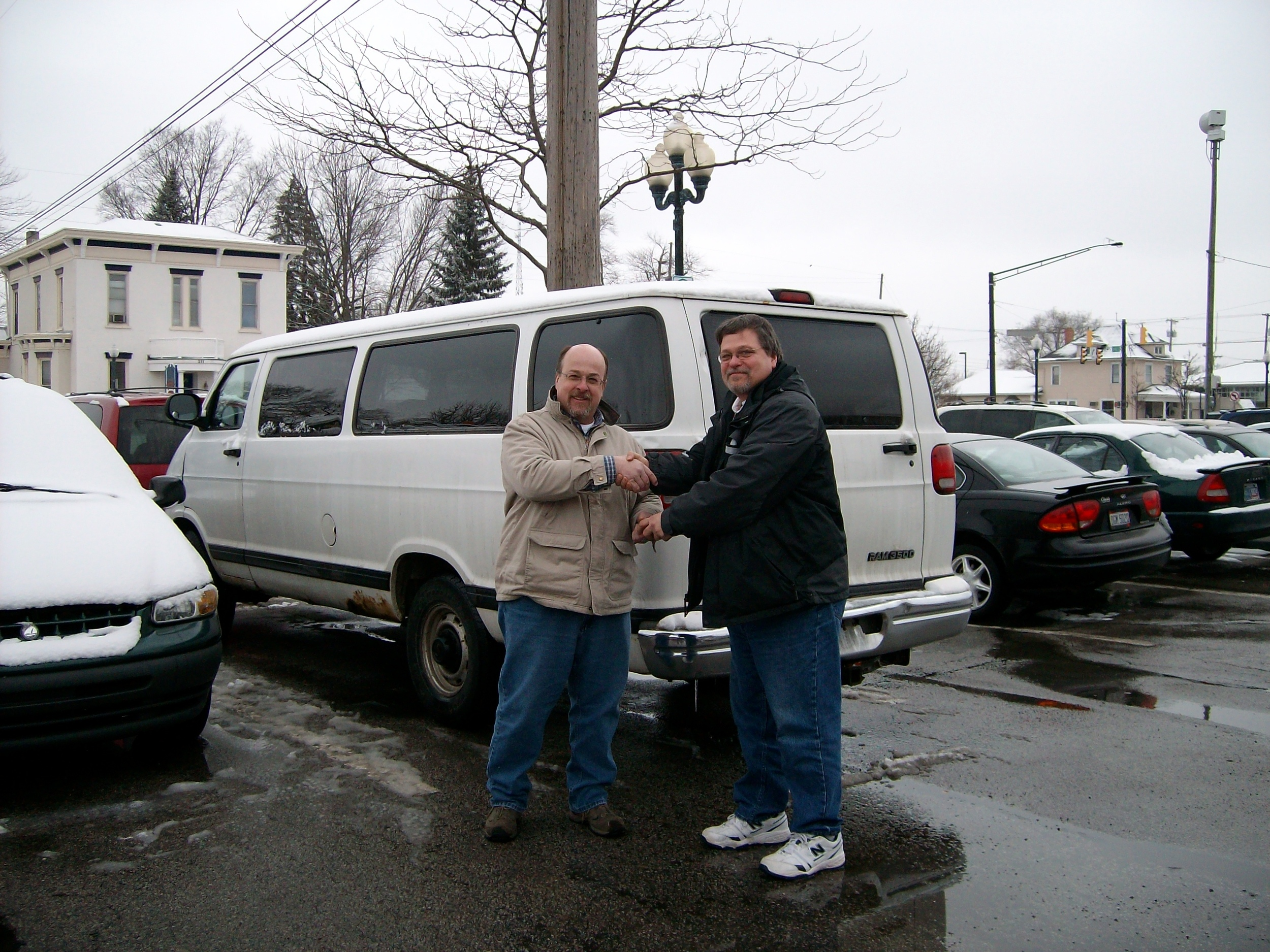 Faith Mission giving a van for donation and Meals on Wheels pickup.