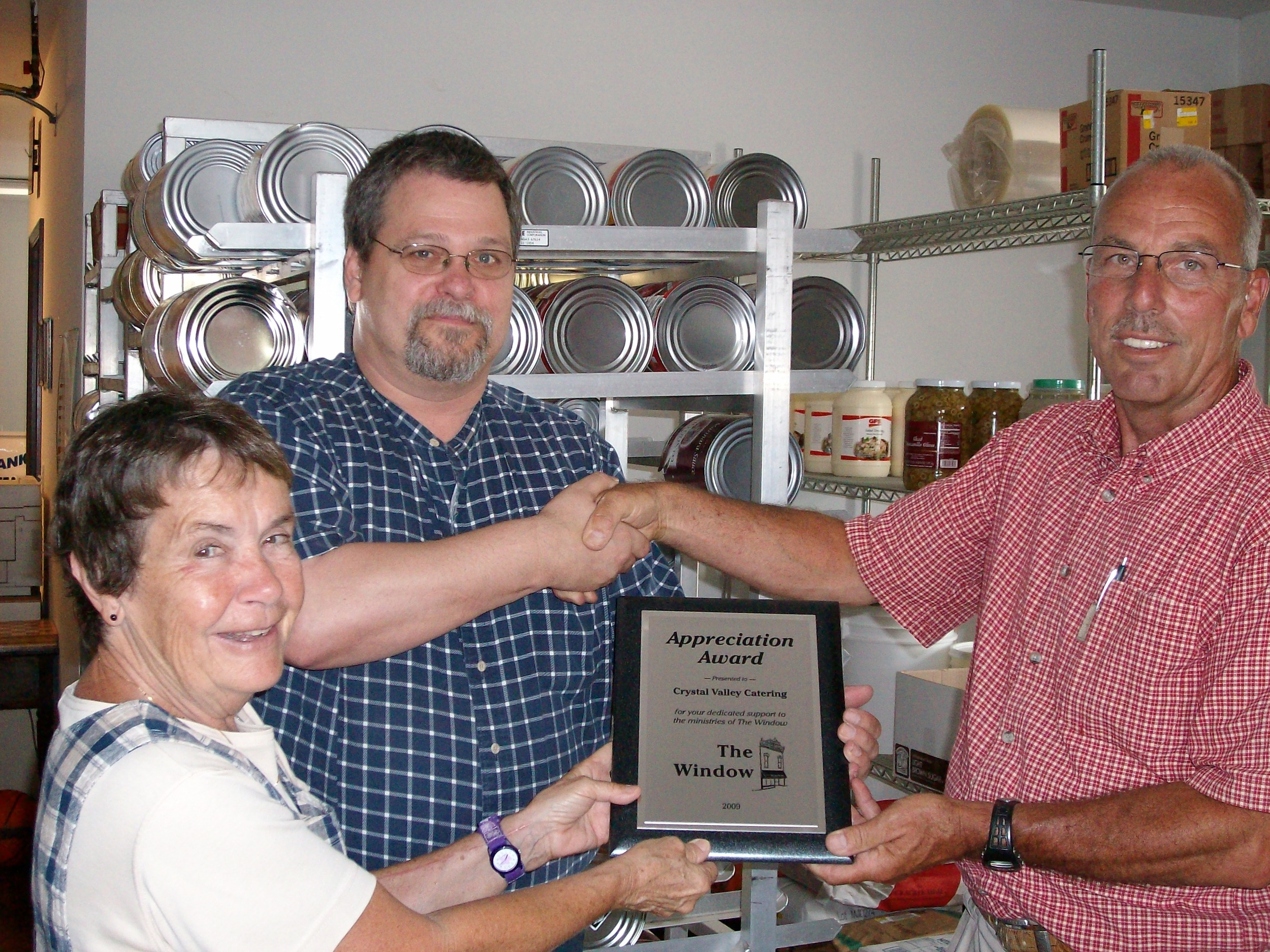 Crystal Valley Catering 2009 Supporter of The Year