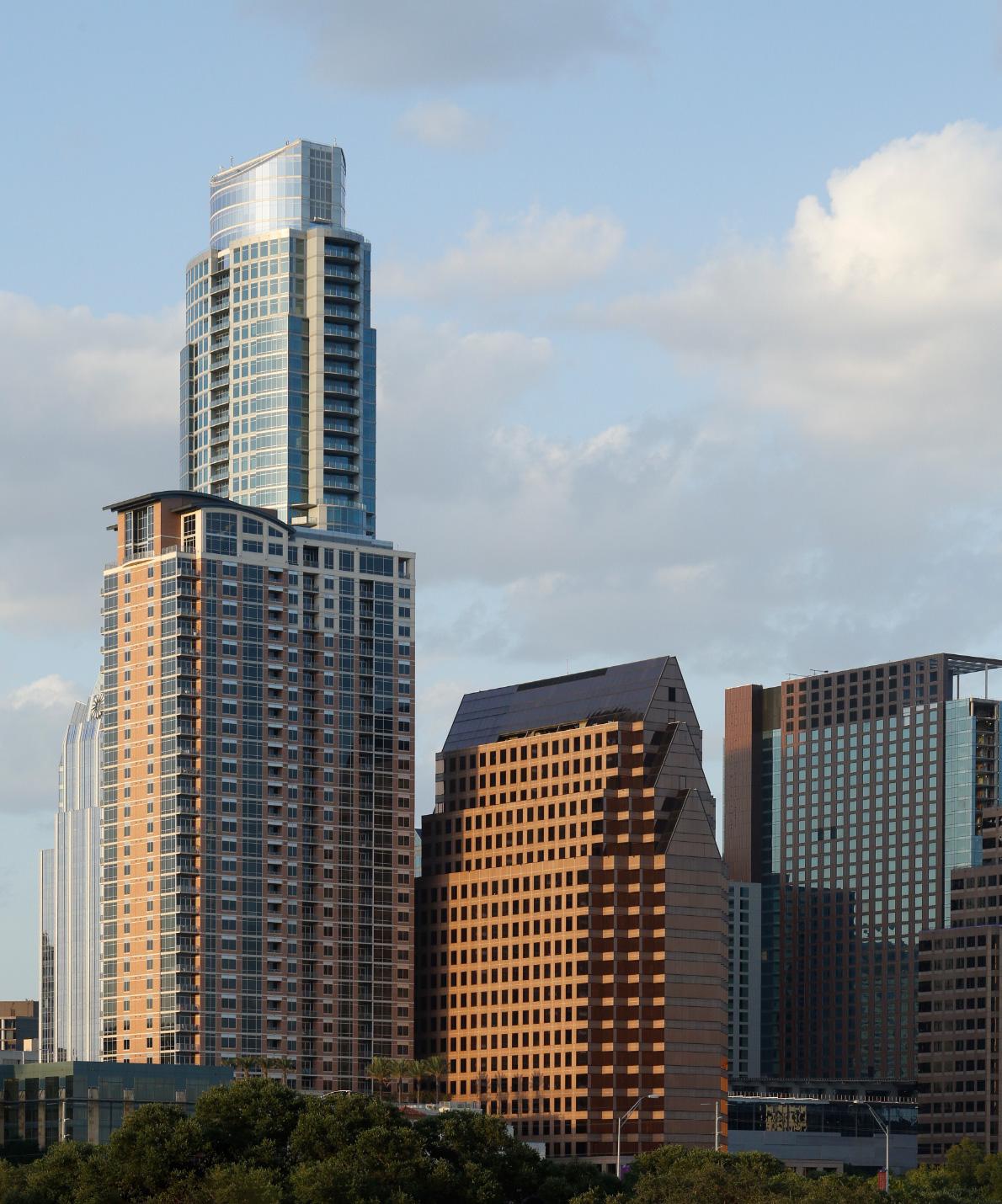 Segment of the Austin skyline