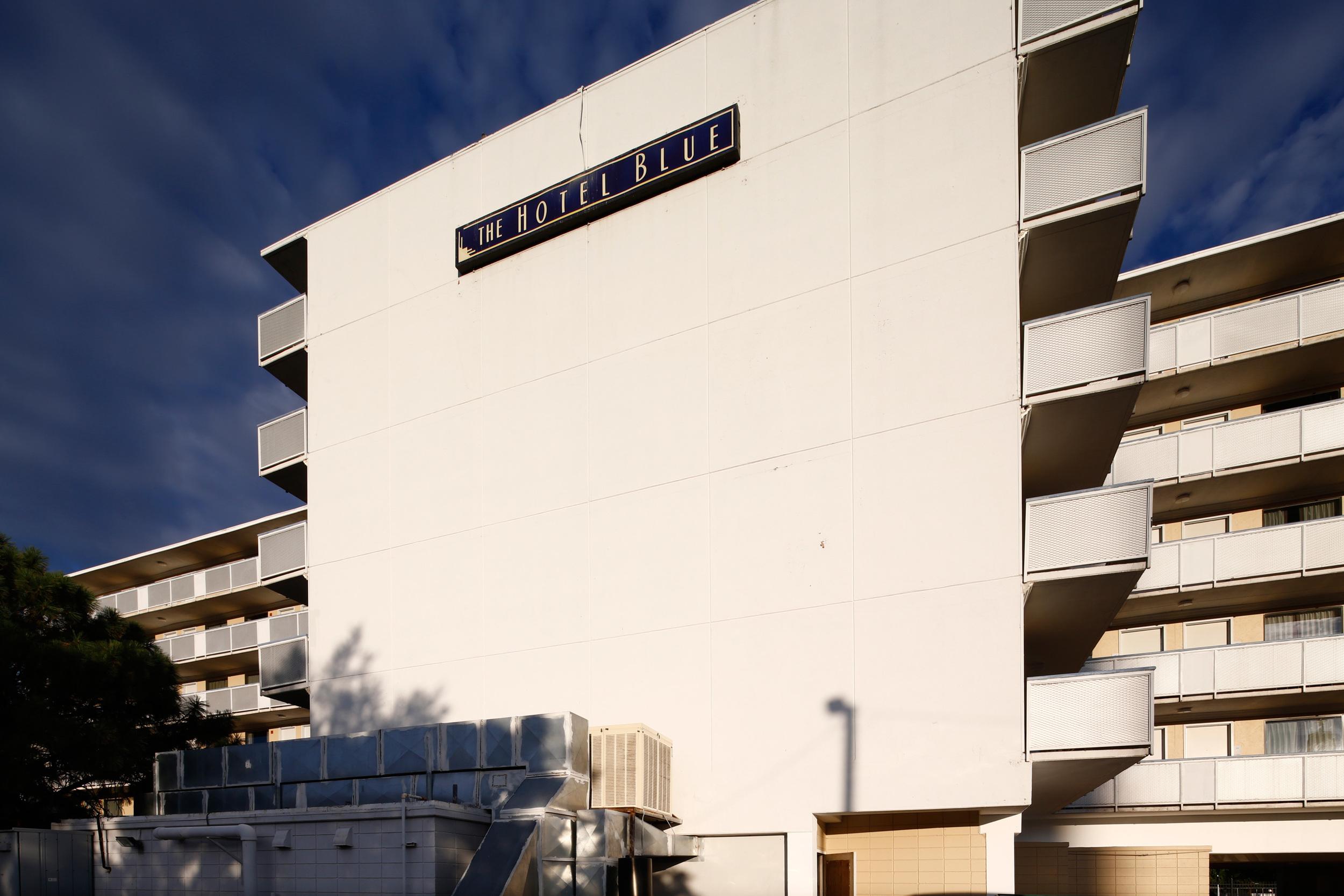 The Hotel Blue edifice