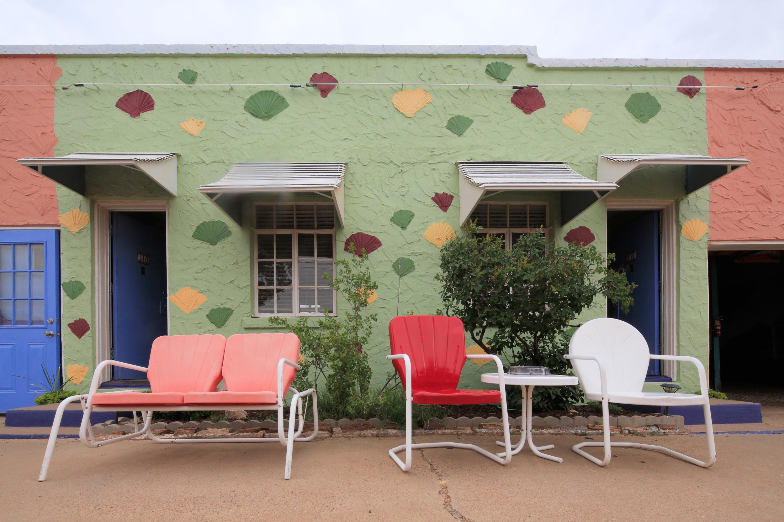 Blue Swallow Motel patio furniture