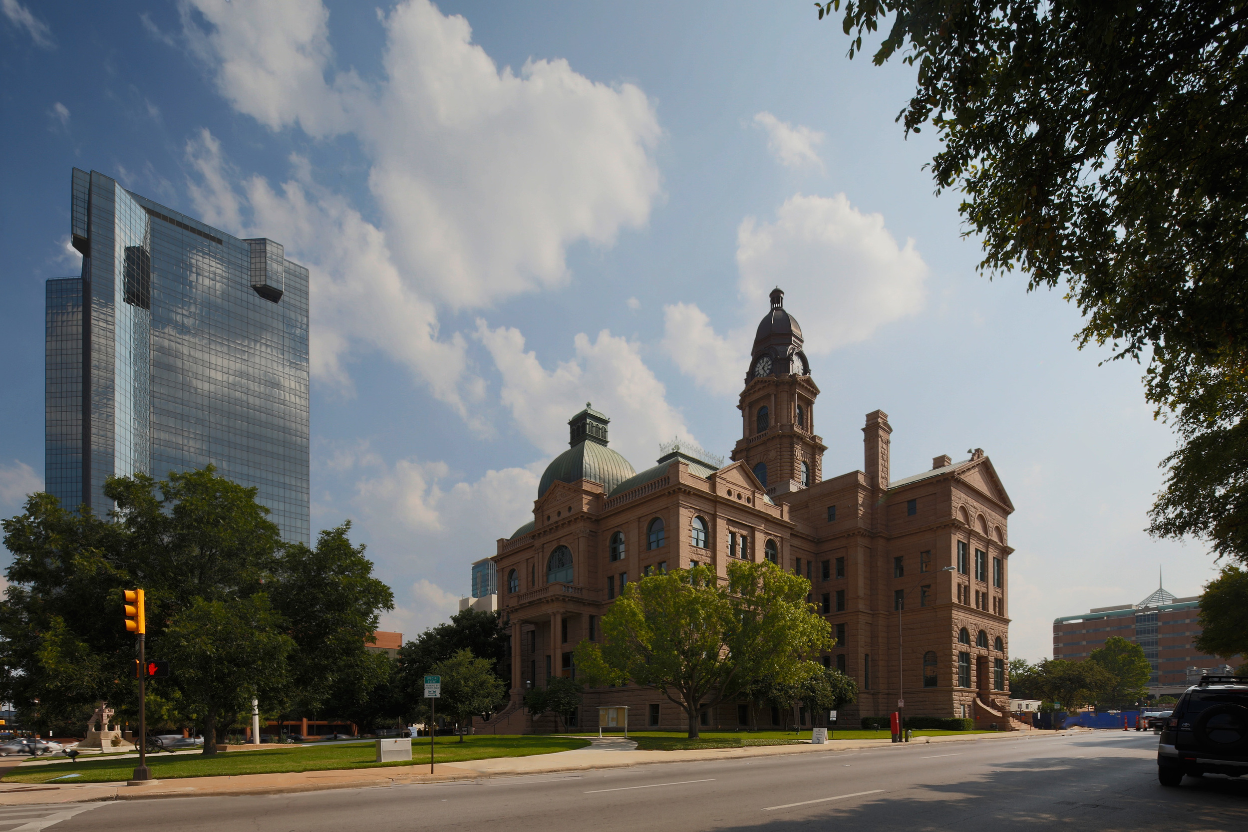 Tarrant County Courthouse and the D.R. Horton Tower